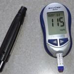 血糖測定結果、食後2時間115mg/dLの写真
